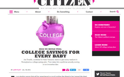 The Philadelphia Citizen – Ideas We Should Steal: College Savings for Every Baby